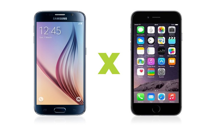samsung galaxy s6, iphone 6
