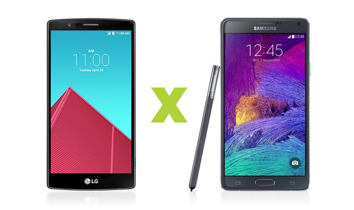 Disputa de smartphones Android: LG G4 vs Galaxy Note 4