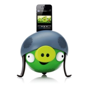 Dock Station com Caixa de Som Integrada Gear4 Controle Remoto Angry Birds