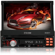 "Foto DVD Player Automotivo Ícone Eletrônicos 7 "" DV2011 Touchscreen USB"