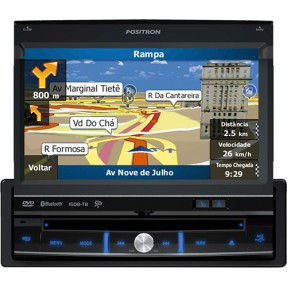 "Foto DVD Player Automotivo Pósitron 7 "" SP6900 AV Touchscreen Bluetooth"