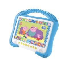 "DVD Player Portátil Tela 7"" Peppa Pig kids Tectoy"