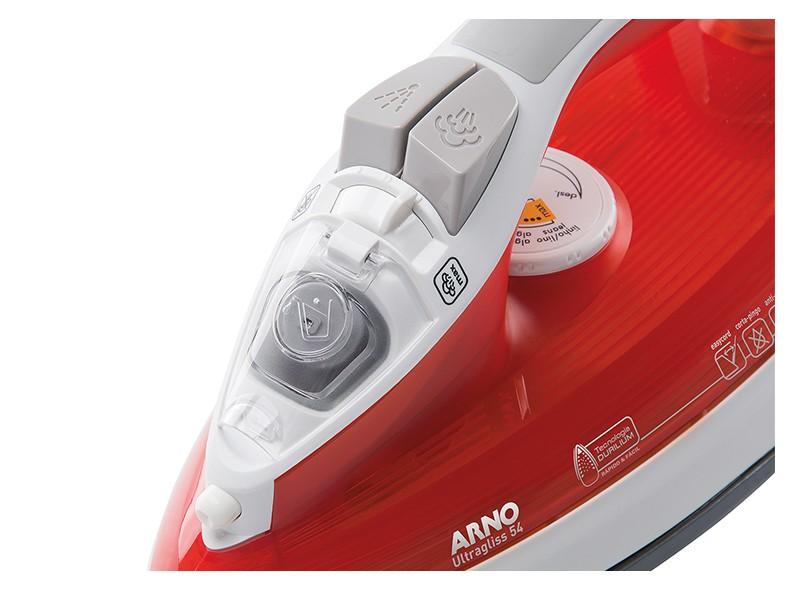 218ed3948 Ferro de Passar Roupas A Vapor Arno Ultragliss 54 Vapor Vertical Salva  Botões Auto-Limpante