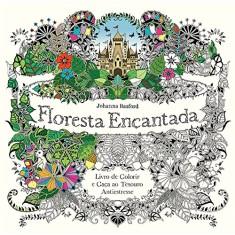 Floresta Encantada. Livro de Colorir e Caça ao Tesouro Antiestresse - Capa Comum - 9788543101958