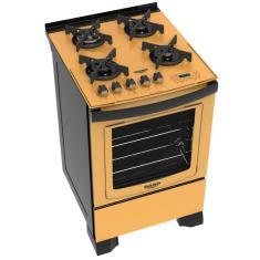 Fogão de Piso Dako Dakolors DP4VTP 4 Bocas Acendimento Superautomático Grill