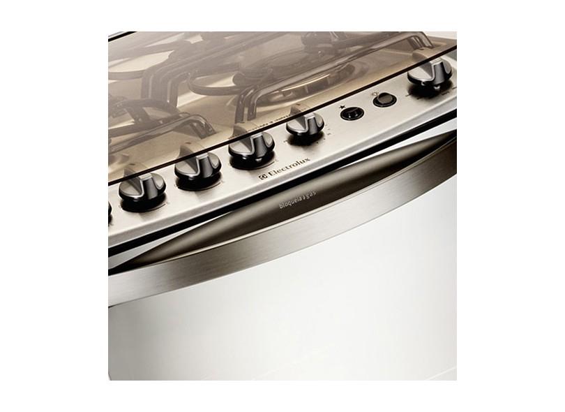 8ef230fab Fogão de Piso Electrolux Celebrate 56STX Acabamento Inox 4 Bocas  Acendimento Automático Queimador com Tripla Chama Queimadores Diferentes