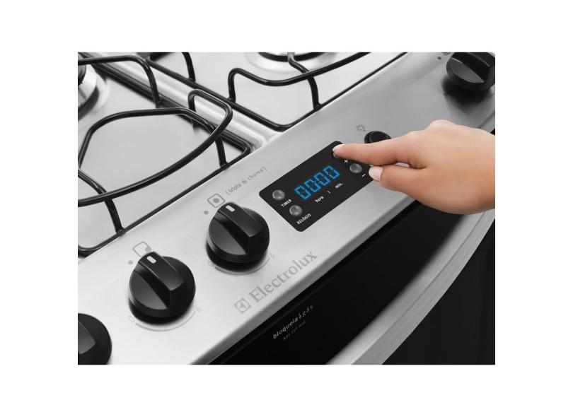 e66867ea8 Fogão de Piso Electrolux Celebrate Timer 76SRB 5 Bocas Acendimento  Automático Queimador com Tripla Chama Queimadores Diferentes Display  Digital Timer Sonoro