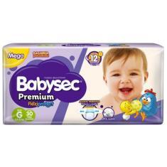Fralda Babysec Galinha Pintadinha Premium Flexiprotect Tamanho G Mega 30 Unidades Peso Indicado 8,5 - 12kg