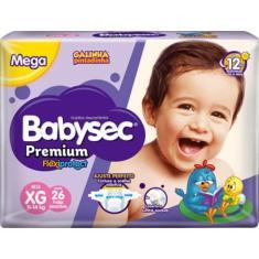 Fralda Babysec Galinha Pintadinha Premium Flexiprotect Tamanho XG Mega 26 Unidades Peso Indicado 11 - 14kg