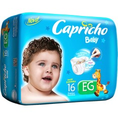 Fralda Capricho Baby Tamanho XG Econômica 16 Unidades Peso Indicado 13 - 15kg