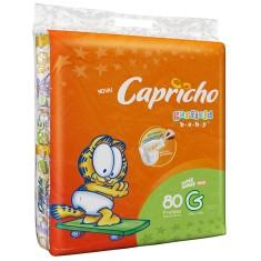 Fralda Capricho Garfield Tamanho G Jumbo 80 Unidades Peso Indicado 10 - 13kg