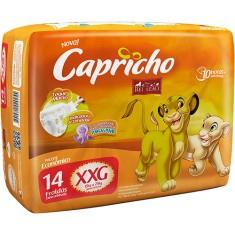 Fralda Capricho Rei Leão Tamanho XXG Econômica 14 Unidades Peso Indicado 15 - 25kg