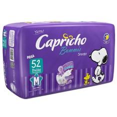 Fralda Capricho Snoopy Bummis Tamanho M Mega 52 Unidades Peso Indicado 5 - 10kg