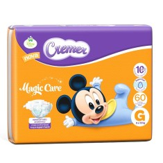 Fralda Cremer Disney Baby Magic Care Tamanho G Hiper 60 Unidades Peso Indicado 9 - 13kg