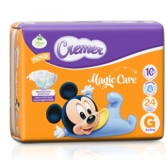 Fralda Cremer Disney Baby Tamanho G Prático 24 Unidades Peso Indicado 9 - 13kg