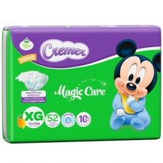 Fralda Cremer Disney Baby Tamanho XG Hiper 52 Unidades Peso Indicado 13 - 16Kg