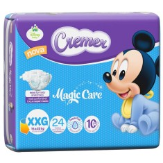Fralda Cremer Disney Baby Tamanho XXG 24 Unidades Peso Indicado 15 - 22kg