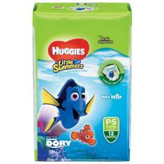 Fralda de Vestir Huggies Disney Little Swimmers Tamanho P 12 Unidades Peso Indicado 6 - 9,5kg