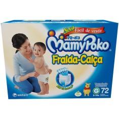 Fralda de Vestir MamyPoko Fralda-Calça Tamanho G 72 Unidades Peso Indicado 9 - 14kg