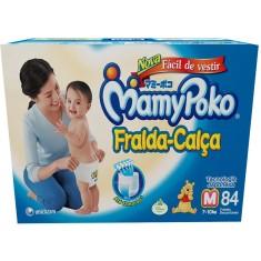 Fralda de Vestir MamyPoko Fralda-Calça Tamanho M 84 Unidades Peso Indicado 7 - 10kg