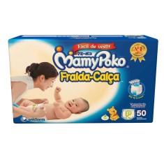 Fralda de Vestir MamyPoko Fralda-Calça Tamanho P Mega 50 Unidades Peso Indicado 3 - 8 kg