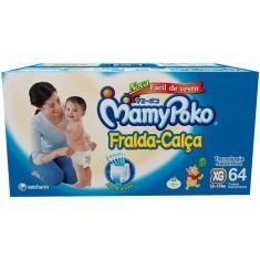 Fralda de Vestir MamyPoko Fralda-Calça Tamanho XG 64 Unidades Peso Indicado 12 - 17kg