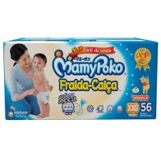 Fralda de Vestir MamyPoko Fralda-Calça Tamanho XXG 56 Unidades Peso Indicado 15 - 25kg