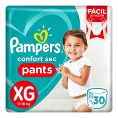 Fralda de Vestir Pampers Confort Sec Pants Tamanho XG 30 Unidades Peso Indicado 11 - 16kg