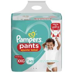 Fralda de Vestir Pampers Pants Ajuste Total Tamanho XXG 60 Unidades Peso Indicado 14 - 25kg
