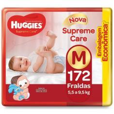 Fralda Huggies Turma da Mônica Supreme Care Tamanho M 172 Unidades Peso Indicado 5,5 - 9,5kg