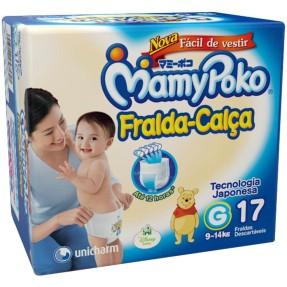 Fralda MamyPoko Fralda-Calça Tamanho G Regular 17 Unidades Peso Indicado 9 - 14kg