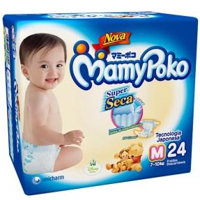 Fralda MamyPoko Super Seca Tamanho M Regular 24 Unidades Peso Indicado 7 - 11kg
