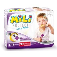 Fralda Mili Protect Dia e Noite Tamanho XG 18 Unidades Peso Indicado +15kg