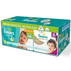 188ccef9f Fralda Pampers Confort Sec e Nova Premium Care Tamanho G 80 Unidades Peso  Indicado 9 - 12