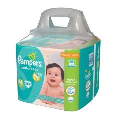 Fralda Pampers Confort Sec Tamanho M Giga 80 Unidades Peso Indicado 6 - 9,5kg