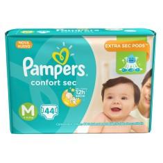 3a647a28e Fralda Pampers Confort Sec Tamanho M Mega 44 Unidades Peso Indicado 6 -  9