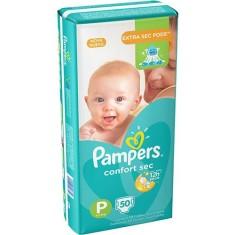 Fralda Pampers Confort Sec Tamanho P Mega 50 Unidades Peso Indicado 5 - 7,5kg