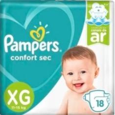 Fralda Pampers Confort sec Tamanho XG 18 Unidades Peso Indicado 11 - 15kg