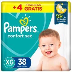 Fralda Pampers Confort Sec Tamanho XG 38 Unidades Peso Indicado 11 - 15kg
