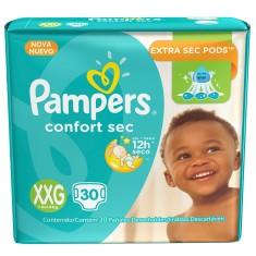 Fralda Pampers Confort Sec Tamanho XXG 30 Unidades Peso Indicado +14kg