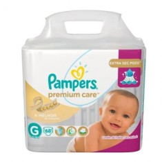 Fralda Pampers Nova Premium Care Tamanho G Jumbo 68 Unidades Peso Indicado 9 - 12,5kg