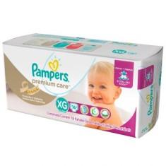 Fralda Pampers Nova Premium Care Tamanho XG Pacotão 16 Unidades Peso Indicado 12 - 15kg