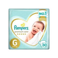 Fralda Pampers Premium Care Tamanho G 30 Unidades Peso Indicado 9 - 13kg