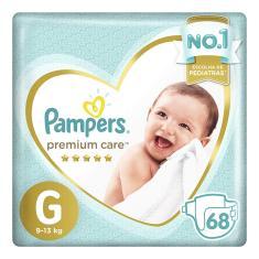Fralda Pampers Premium Care Tamanho G 68 Unidades Peso Indicado 9 - 13kg