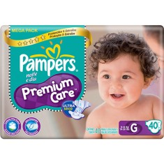 Fralda Pampers Premium Care Tamanho G Mega 40 Unidades Peso Indicado 9 - 14kg