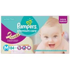 Fralda Pampers Premium Care Tamanho M Jumbo 84 Unidades Peso Indicado 6 - 9kg