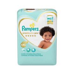 Fralda Pampers Premium Care Tamanho XXG 24 Unidades Peso Indicado +14kg