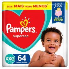 Fralda Pampers Supersec Tamanho XXG 64 Unidades Peso Indicado +14kg