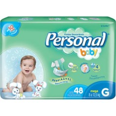 Fralda Personal Baby Tamanho G Mega 48 Unidades Peso Indicado 8 - 12,5kg