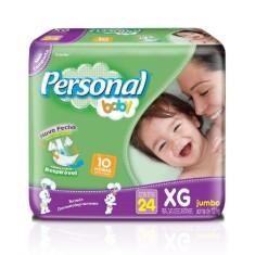 Fralda Personal Baby Tamanho XG Jumbo 24 Unidades Peso Indicado +12kg